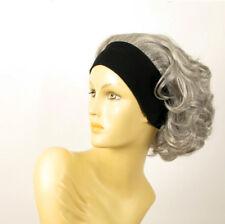 turban chimio avec bandeau elastique cheveux gris ref ANA en 51