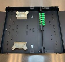 Wall Mount Patch Panel 6 Port Scapc Fiber Optic Patch Panel - (Crs) - Black