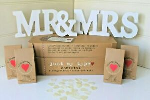 WEDDING CONFETTI BIODEGRADABLE TISSUE PAPER IVORY HEARTS BOXED JUST MY TYPE