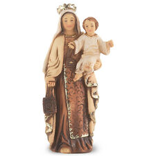 Statue Mary Our Lady Mt Carmel 4 inch Painted Resin Figurine Patron Catholic Box