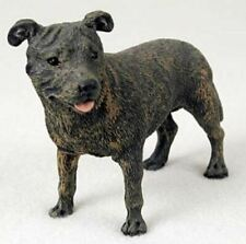 Staffordshire Bull Terrier Dog Figurine Statue HandPainted Resin Gift Pet Lovers