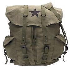 olive drab large canvas pack backpack vintage weekender black star rothco 9158
