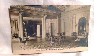 Myrtle Room Waldorf Astoria Hotel RPPC Real Photo Rotograph Antique Postcard