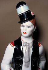 """HOLLOHAZA Hungary Porcelain 12"""" Man Traditional Folk Dress Hand Painted Figurine"""