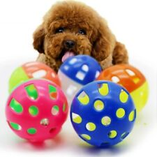 Small Cat dog Toys Ball With Bell Ring Playing Rattle Scratch Plastic Ball Toys