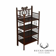 Antique Victorian Stick & Ball 4 Tier Etagere Bookcase Stand
