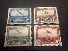 Belgium airmail stamp set C1-C4 mint, hinged