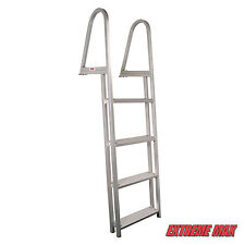 Extreme Max Aluminum Pontoon/Dock Ladder - 4-Step Avalon, TMC, Premier, Tracker