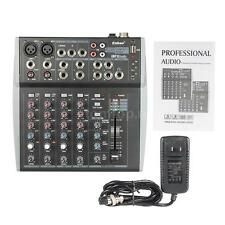 8 Channels Mic Audio Mixer Mixing Console 3-band EQ for Karaoke US Plug O4I9