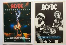 ACDC 2 x VINTAGE ORIGINAL ADVERTS HEAVY METAL POSTER FLYER CUTTINGS AC/DC #3