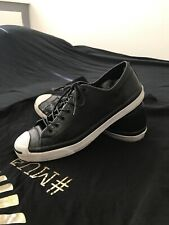 Converse Jack Purcell OX Mens Casual Low Top Shoe Black/White Leather Size 10.5