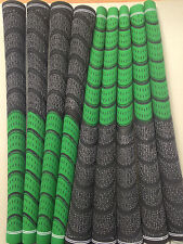 New Set of 9 green and Black dual Compound Golf Grips + Tape
