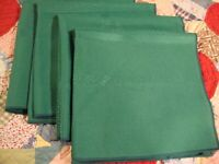 "Vintage Hunter Green Retro Linen Napkins Set 4pc Dinning Decor 16"" Square    237"