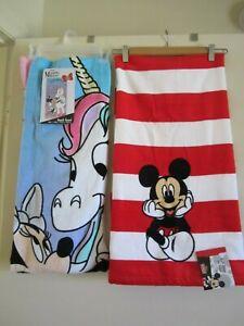 Disney Minnie 100% Unicorn or Mickey Mouse Bath Beach Towel 100% Cotton, NEW