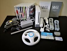 White Nintendo Wii Console Bundle 1 Controller 1 Nunchuck & All Wires etc