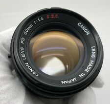 Canon FD 50mm f1.4 S.S.C. Lens-Guaranteed+Free Shipping!