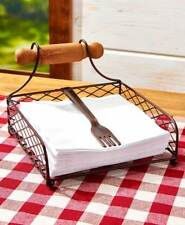Rustic napkin holder - NIB