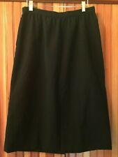 Vintage Calvin Klein Black Durndl Wool Gaberdine Skirt - 1980's - Mint - Size 12