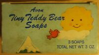 Vintage Avon 3 Tiny Teddy bear soaps 1988