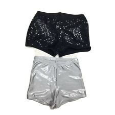 Cheerleading CDT Shorts Lot Size XS / Small Sequin Sparkle Dance Gymnastics