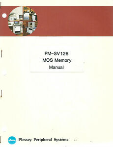 Plessey Peripheral Systems // PM-SV128 MOS Memory Manual