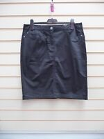 Sheego Skirt Black Size 20 Casual Knee Length Pencil  BNWT (G022