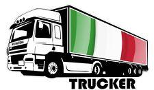 International Trucker Lorry Driver & Italy Italian Flag car truck sticker Decal