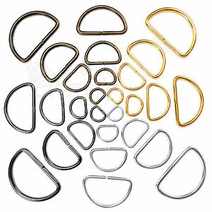 D rings buckles for webbing 10 15 20 25 30 35 40 50 mm multi colours available