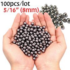 100pcs 8mm Ammo Steel Balls Bearings for Hunting Catapult Slingshot Target Games