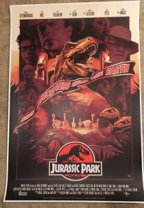 Jurassic Park by John Guydo Mondo Poster NYCC Variant Print Bottleneck x/50