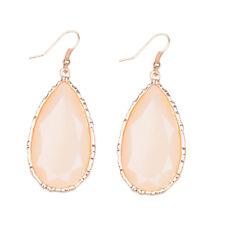 1 Pair Vintage Crystal Ear Bronze Silver Gold Water Drop Women Elegant Earrings