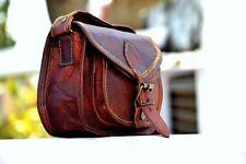 Women Purse Vintage Genuine Brown Leather Cross Body Shoulder Handmade bag india