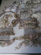 18 Piece Bridal Wedding Hair Ornaments Tiaras Floral Rhinestone