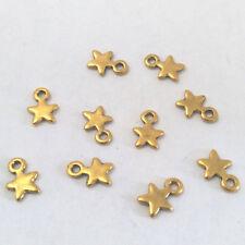 LOT de 25 PENDENTIFS DORE perles breloques  ETOILES STAR création bijoux