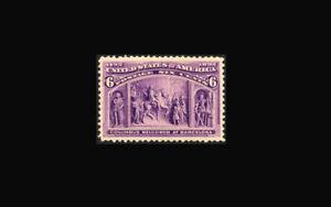 US Stamp Mint OG hinged, XF/Super b #235 Deep rich color, large margin GEM