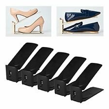 3 Step Adjustable Shoe Slots Space Saver Organizer Double Storage Pack of 5