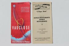 1026 brochure Vaucluse Avignon Paris a la Cote d'Azur France 1930