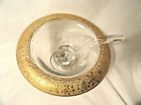 Crystal Gold-Trimmed Mayo Depression Glass