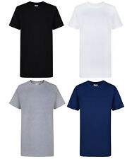 KIDS 2 PACK T-SHIRT SCHOOL UNIFORM BOYS GIRLS PE CREW NECK COTTON BNWT