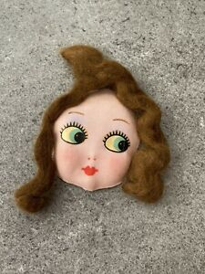 Doll's Face and Hair for Making Rag Doll