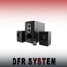 CASSE PER PC 2.1 25W RMS USB SD FM con Remote Control VULTECH SP2008Full OFFERTA
