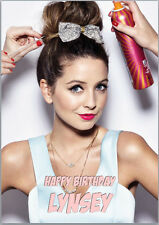 Zoe Sugg Zoella Birthday Card A5 Personalised with own words