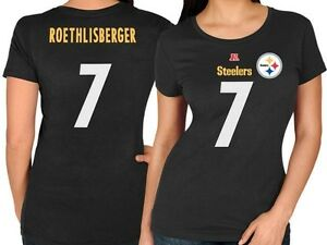 Majestic Pittsburgh Steelers Women's Ben Roethlisberger Name & Number Shirt