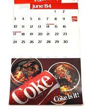BEL VECCHIO Coca-Cola calendario 1984 USA COKE CALENDARIO