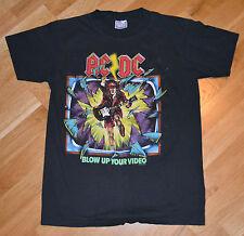 RaRe *1988 AC/DC* vtg rock concert t-shirt (M/L) 1980's Tour ACDC Angus Young