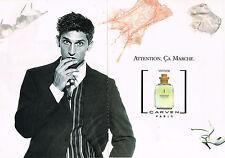 PUBLICITE ADVERTISING 035  1996  CARVEN  parfum VETIVER  ( 2 pages)