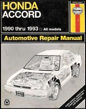 B00320WRYM Honda Accord Automotive Repair Manual 1990 Thru 1993 [Based on a Com
