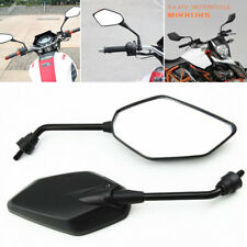2X Black Plastic Motorcycle Mirrors 8MM Bolt for Kawasaki Z750 ER6N Z1000 KLE400