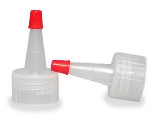 Yorker Dispensing Caps for Plastic Bottles (Lot of 100) (You Choose Cap Size)