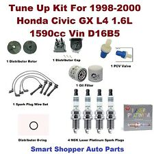 Tune Up Kit For 98-00 Civic GX L4 1.6L Spark Plug Wire Set, Oil Filter, PCV Valv